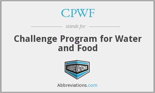 CPWF - Challenge Program for Water and Food