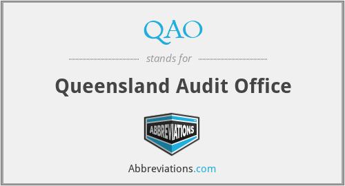 QAO - Queensland Audit Office