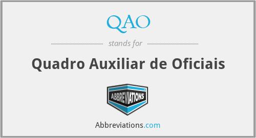 QAO - Quadro Auxiliar de Oficiais