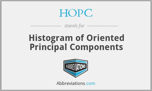 HOPC - Histogram of Oriented Principal Components