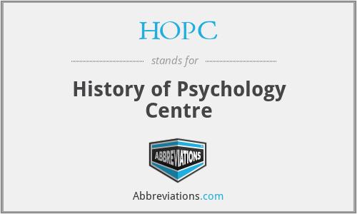 HOPC - History of Psychology Centre