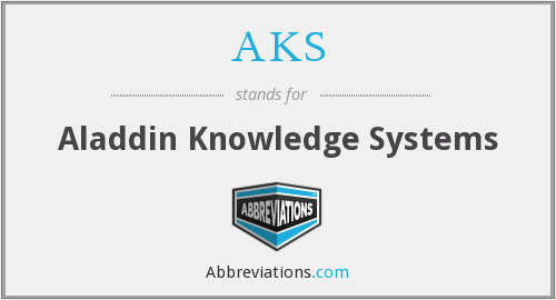 AKS - Aladdin Knowledge Systems