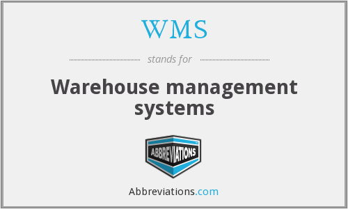 WMS - Warehouse management systems