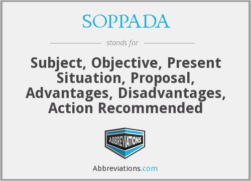 What does SOPPADA stand for?