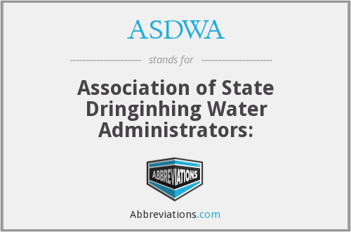 What does ASDWA stand for?