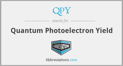 QPY - Quantum Photoelectron Yield