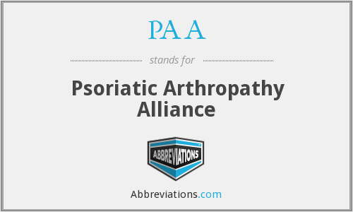 PAA - Psoriatic Arthropathy Alliance