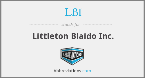 LBI - Littleton Blaido Inc.