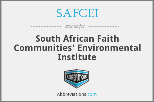 SAFCEI - South African Faith Communities' Environmental Institute