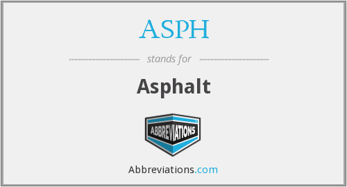 What does ASPH stand for?