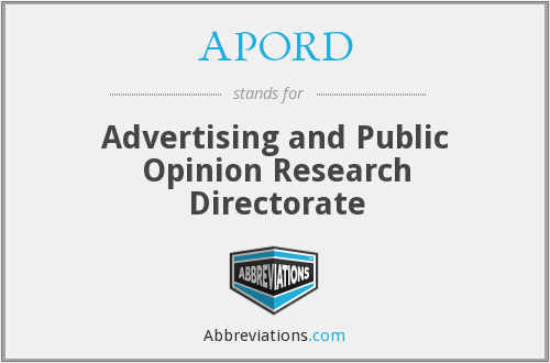 APORD - Advertising and Public Opinion Research Directorate