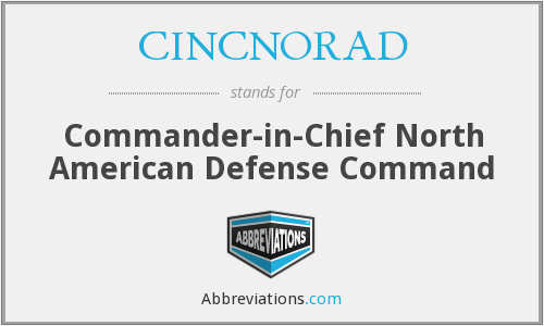 What does CINCNORAD stand for?