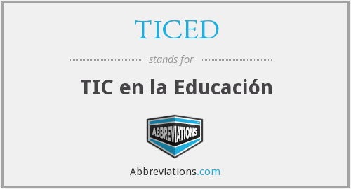 What does TICED stand for?