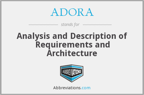ADORA - Analysis and Description of Requirements and Architecture