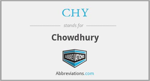 CHY - Chowdhury