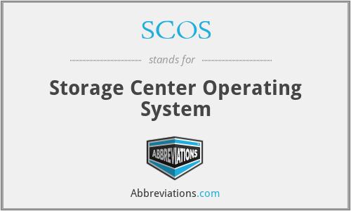 SCOS - Storage Center Operating System