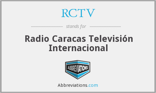 What does RCTV stand for?