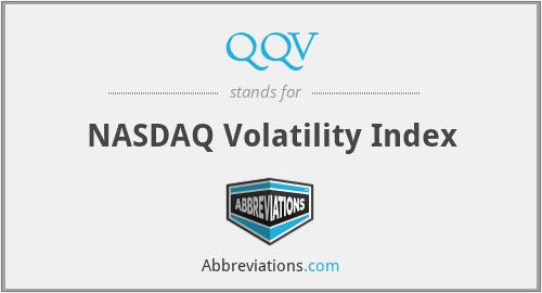 QQV - NASDAQ Volatility Index