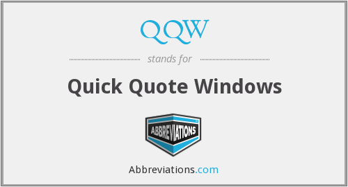 What does QQW stand for?