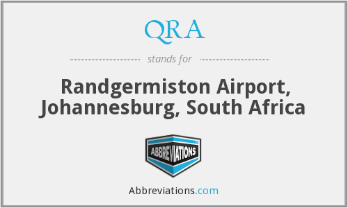 QRA - Randgermiston Airport, Johannesburg, South Africa