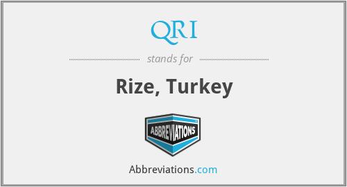 QRI - Rize, Turkey