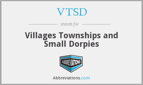VTSD - Villages Townships and Small Dorpies