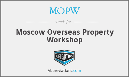 What does MOPW stand for?