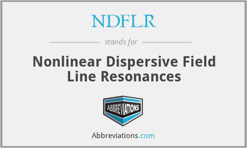 NDFLR - Nonlinear Dispersive Field Line Resonances