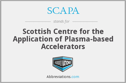 What does SCAPA stand for?