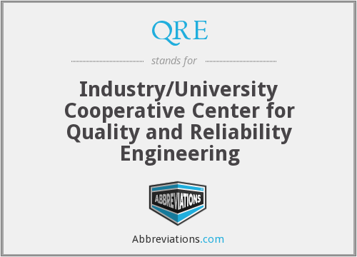 QRE - Industry/University Cooperative Center for Quality and Reliability Engineering
