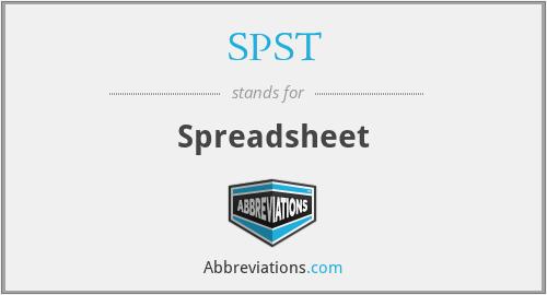 SPST - Spreadsheet