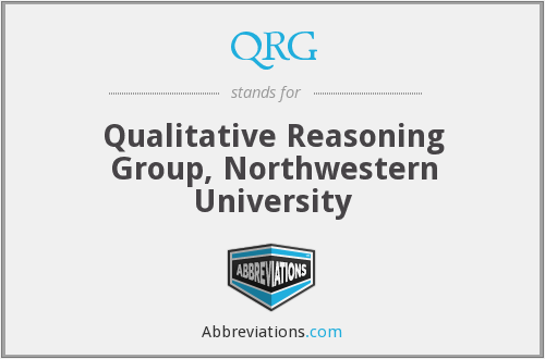 QRG - Qualitative Reasoning Group, Northwestern University
