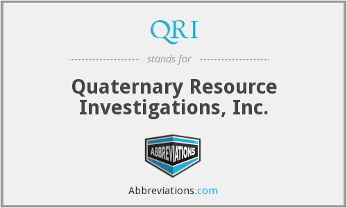 QRI - Quaternary Resource Investigations, Inc.