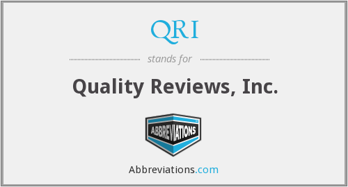 QRI - Quality Reviews, Inc.