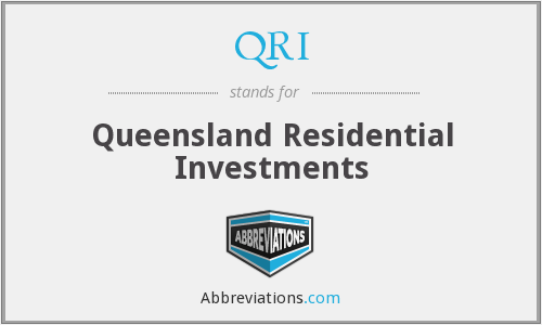 QRI - Queensland Residential Investments