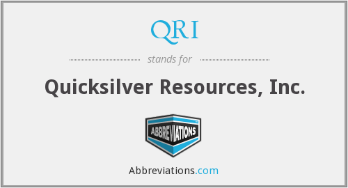 QRI - Quicksilver Resources, Inc.