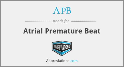 APB - Atrial Premature Beat