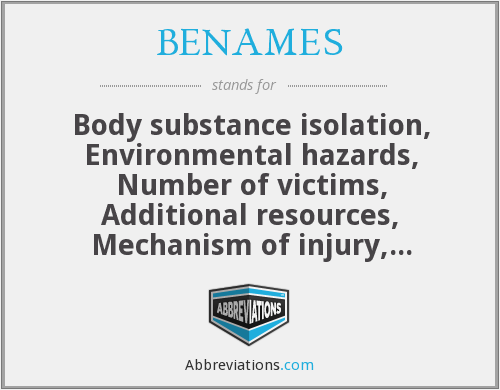 What does BENAMES stand for?