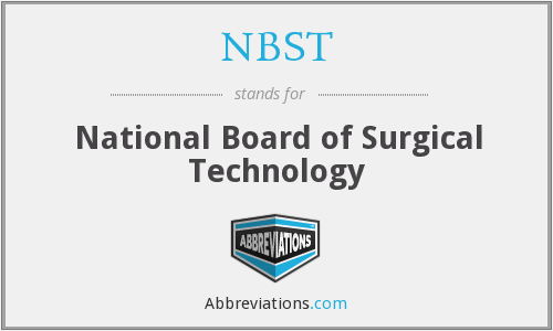 What does NBST stand for?