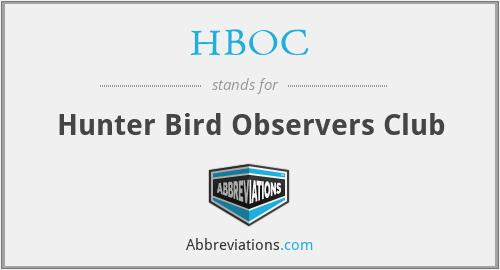 HBOC - Hunter Bird Observers Club