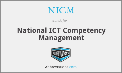 NICM - National ICT Competency Management