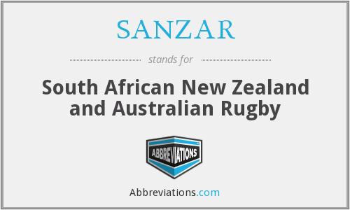 What does SANZAR stand for?