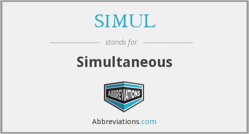 What does SIMUL stand for?