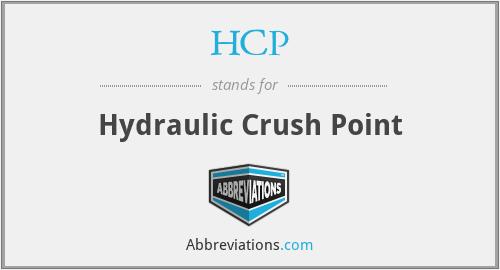 HCP - Hydraulic Crush Point