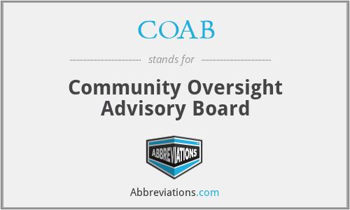 COAB - Community Oversight Advisory Board