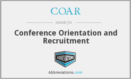 What does COAR stand for?