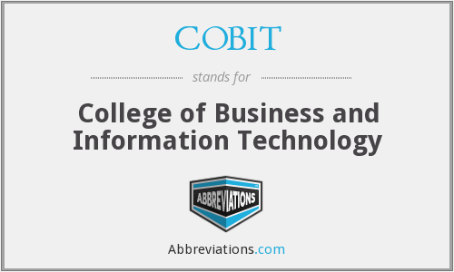 What does COBIT stand for?