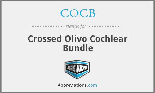 COCB - Crossed Olivo Cochlear Bundle