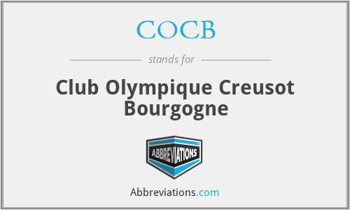 COCB - Club Olympique Creusot Bourgogne