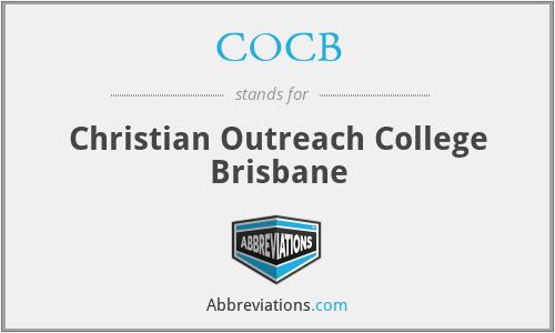 COCB - Christian Outreach College Brisbane
